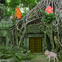 Free online flash games - Abandoned Monkey Temple Escape game - WowEscape