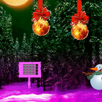 Free online html5 games - Christmas Red Ball Forest Escape game
