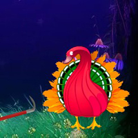 Free online html5 games - Crazy Turkey Forest Escape game