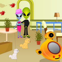 Free online flash games - Escape Alien Couple game - WowEscape