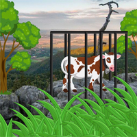 Free online flash games - Escape Cow From Poland Mountain game - WowEscape