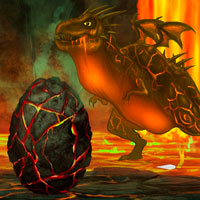 Free online flash games - Escape from Fire Dragon Landscape game - WowEscape