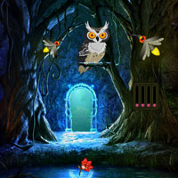 Free online flash games - Escape from Fireflies Magical Forest game - WowEscape