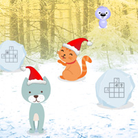Free online flash games - Escape Game Cats Christmas game - WowEscape