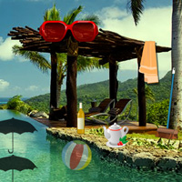 Free online flash games - Escape Game New Year Beach Party game - WowEscape