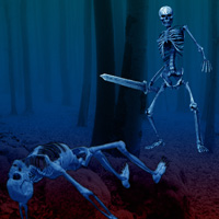Free online flash games - Escape Game Skeleton Forest game - WowEscape
