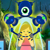 Free online flash games - Escape the Girl from Robot game - WowEscape