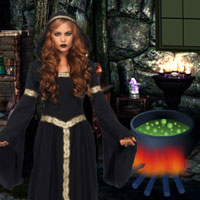 Free online flash games - Escape the Girl from Witch game - WowEscape