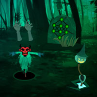 Free online flash games - Halloween Awful Forest Escape game - WowEscape