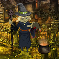 Free online flash games - Halloween Witch Forest Escape game - WowEscape