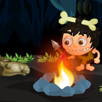 Free online flash games - Little Caveman Escape game - WowEscape