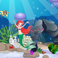 Free online flash games - Mini Mermaid Escape game - WowEscape