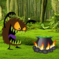 Free online flash games - Monster Magical Forest Escape game - WowEscape