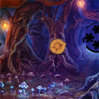 Free online flash games - Mystical Night Forest Escape  game - WowEscape