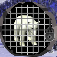 Free online flash games - North Pole Bear Escape