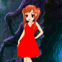 Free online flash games - Red Frock Girl Escape game - WowEscape