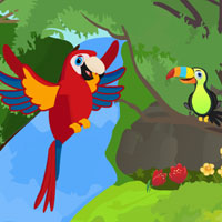 Free online flash games - Red Parrot Escape game - WowEscape
