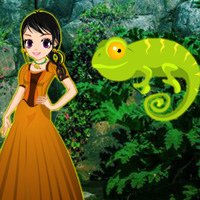 Free online flash games - Rescue Girl from Chameleon Forest game - WowEscape