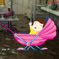 Free online flash games - Save the Baby from Flood game - WowEscape