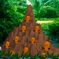 Free online flash games - Termite Mound Forest Escape game - WowEscape