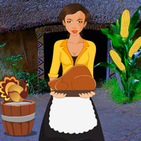 Free online flash games - Thanksgiving Corn Village Girl Escape game - WowEscape