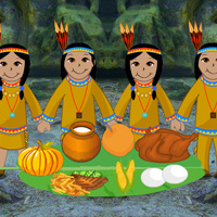 Free online flash games - Thanksgiving Party in Tribal Village game - WowEscape