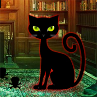 Free online flash games - Halloween Cat House Escape game - WowEscape