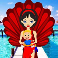 Free online html5 games - Paradise Island Kiddo Escape HTML5 game