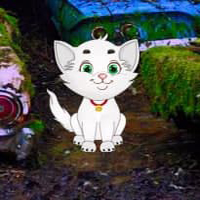 Free online html5 games - White Cat Car Forest Escape HTML5 game