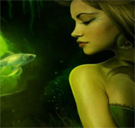 Free online flash games - Green Mermaid Hidden Stars game - WowEscape