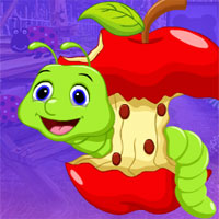 Free online flash games - G4K Worm Escape From Apple  game - WowEscape