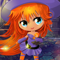 Free online html5 games - G4K Lovely Witch Girl Escape game