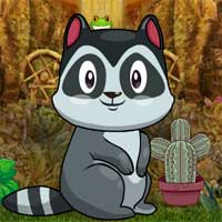 Free online flash games - Games4King Cute Raccoon Escape game - WowEscape