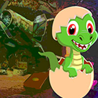 Free online flash games - Games4King Baby Dinosaur Rescue