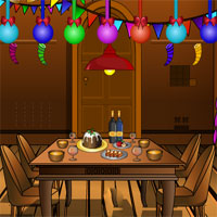 Free online flash games - Winter Wooden House Escape KnfGame