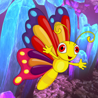 Free online flash games - Crystal Cave Butterfly Escape game - WowEscape