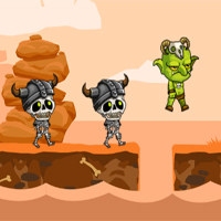 Free online flash games - Goblin vs Skeletons game - WowEscape