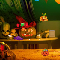 Free online flash games - Halloween Room Hidden Objects