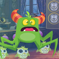 Free online flash games - G4K Fearful Green Creature Rescue  game - WowEscape