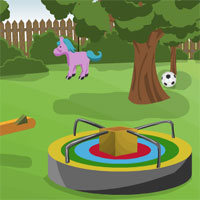 Free online flash games - Beautiful Kids Park Escape