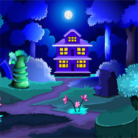 MirchiGames Blue Forest House Escape