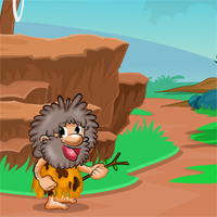Free online flash games - Hungry Cave Man Escape