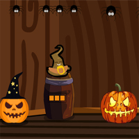 GenieFunGames Billy Halloween Pumpkin House Escape