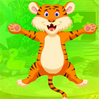 Free online flash games - Games4King Very Cheerful Tiger Escape