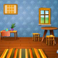 Colorful Log House Escape KnfGame