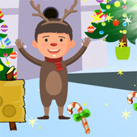 AVM Christmas Deer Boy Escape