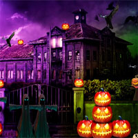 Free online flash games - Top10NewGames Halloween Scary Place Escape