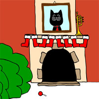 Free online flash games - BartBonte Christmas Cat game - WowEscape