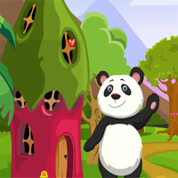 Free online flash games - Games4King Cute Panda Rescue game - WowEscape