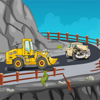 Free online flash games - Mountain Slope Car Escape